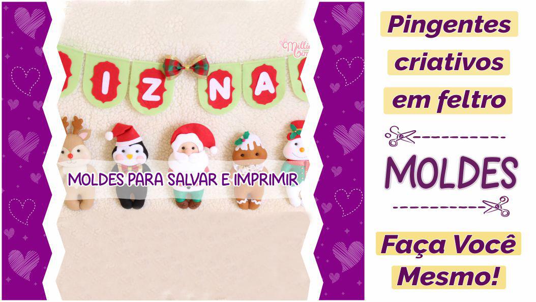 Read more about the article Mix de Pingentes de Feltro | Moldes Criativos para o Natal