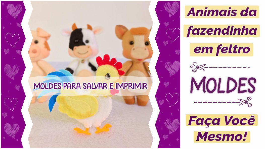 Read more about the article MOLDES ANIMAIS DA FAZENDINHA EM FELTRO