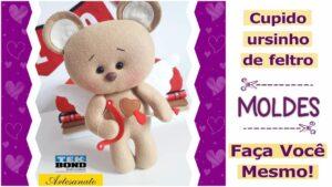 Read more about the article Molde de cupido ursinho para salvar e imprimir [DIY]