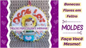 Read more about the article Moldes de boneca flor em feltro – DIY