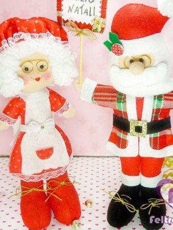 Apostila Papai e Mamãe Noel em Feltro