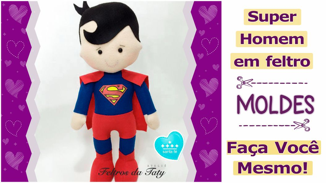 Molde do Super Homem [Superman] de feltro – DIY