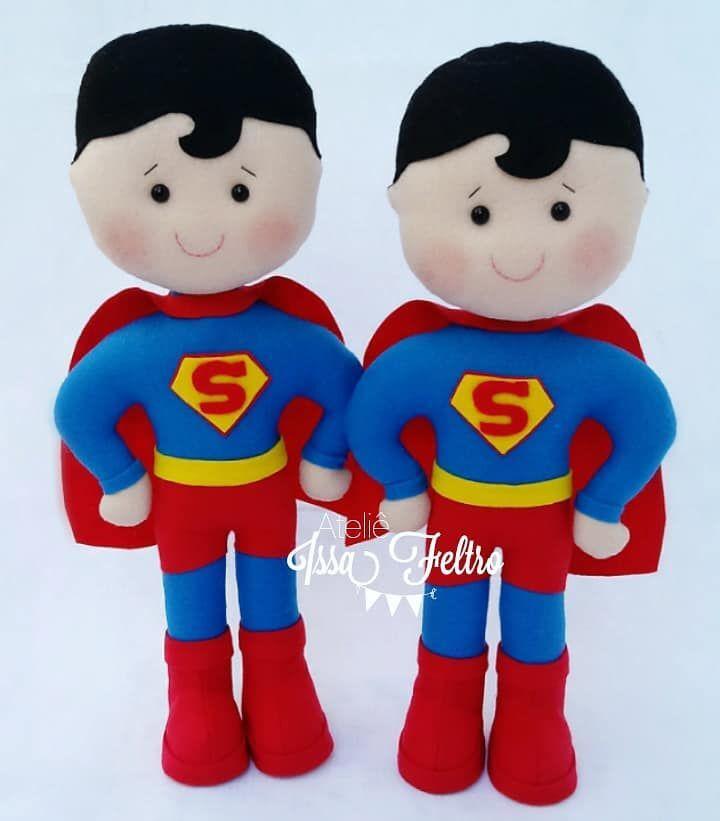 Superman Super Homem em feltro