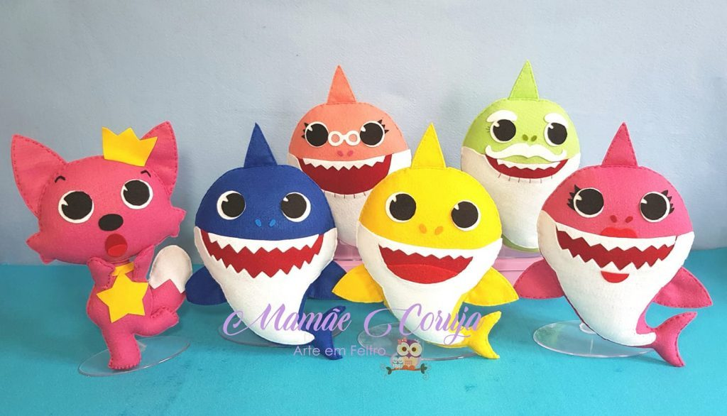 baby shark em feltro