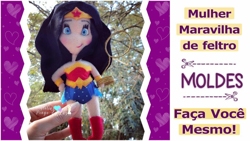 Read more about the article Mulher Maravilha de feltro [faça você mesmo]