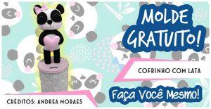 COFRINHO COM LATA – PANDA DE FELTRO
