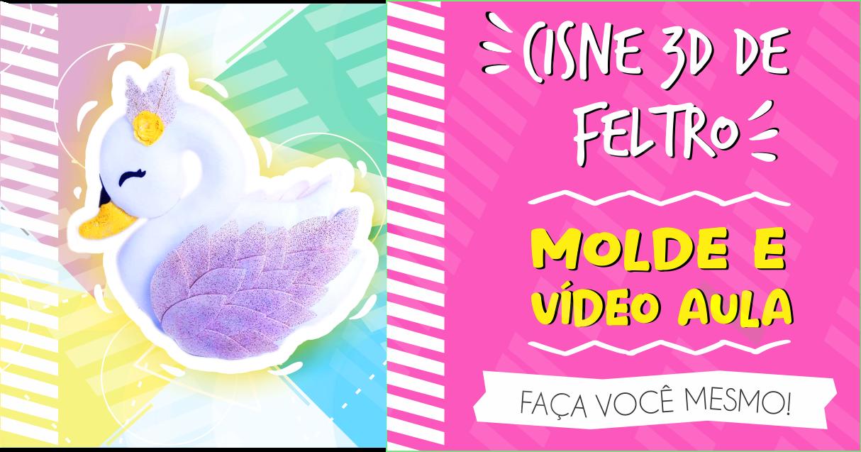 CISNE 3D DE FELTRO – MOLDE E AULA