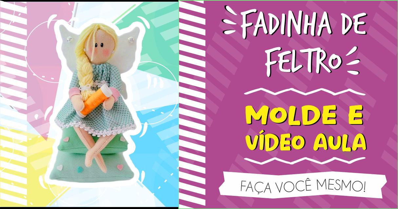 FADINHA ALFINETEIRO | MOLDE E VÍDEO AULA