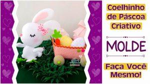 Read more about the article Enfeite de Coelho | Molde Gratuito! | Páscoa