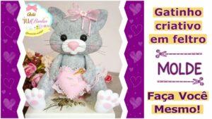 Read more about the article Molde de gato em feltro para imprimir | DIY