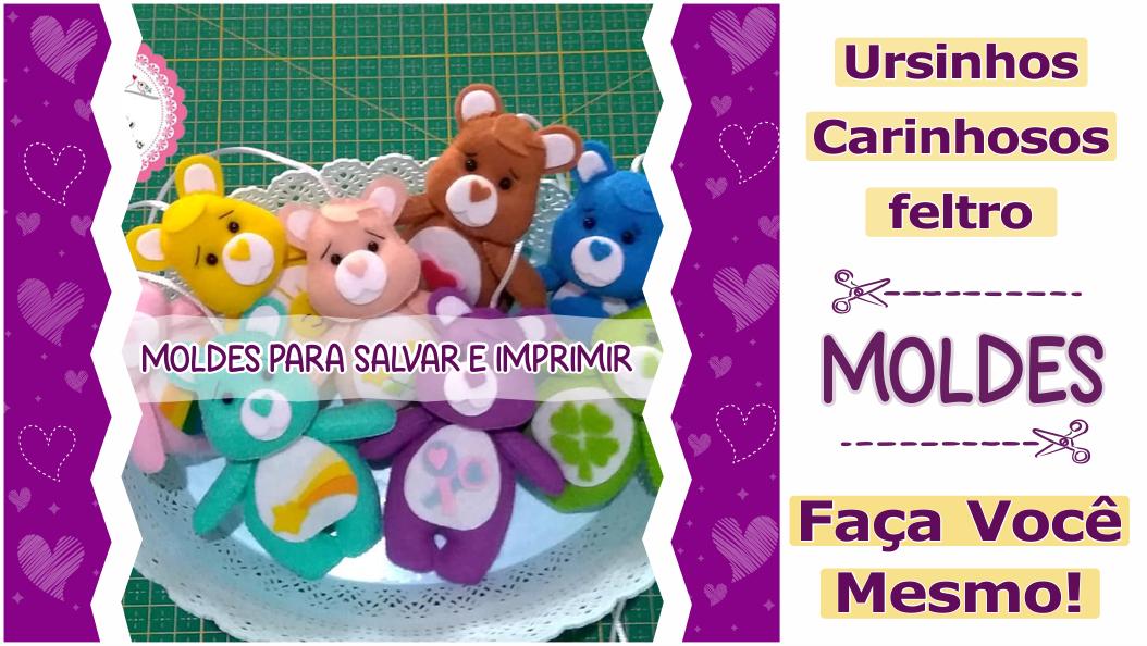 Read more about the article Ursinhos Carinhosos Fofos | Moldes Gratuitos!