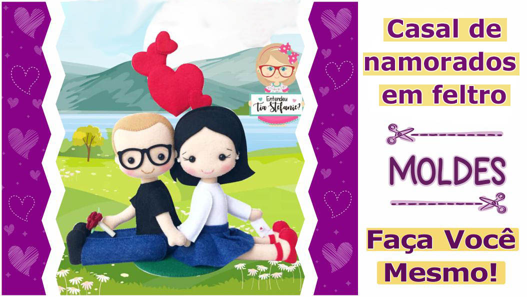Read more about the article Molde de namorados | casal em feltro – DIY