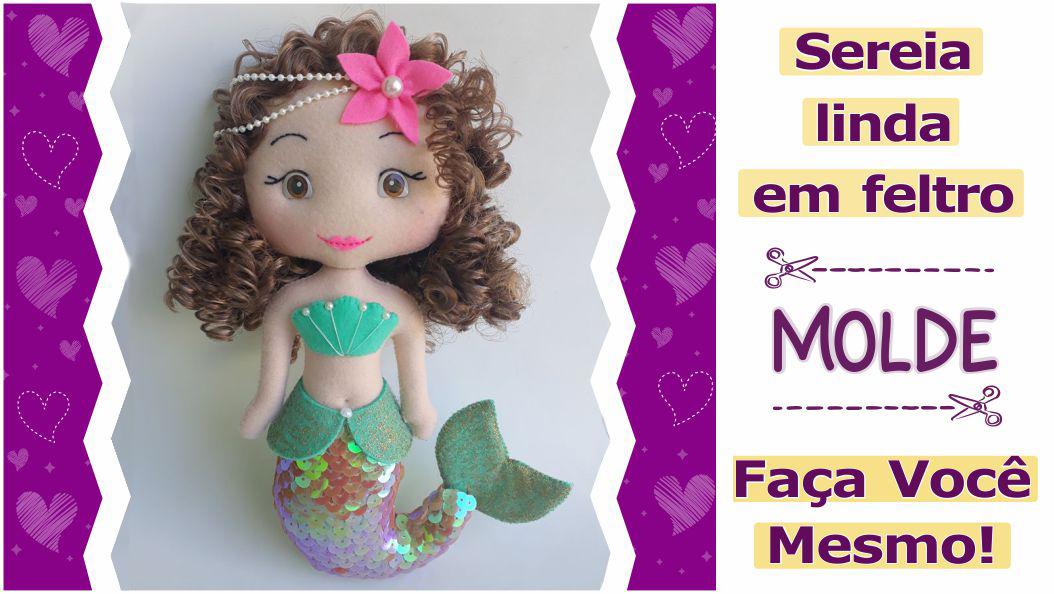 Read more about the article Sereia de feltro com molde e vídeo aula