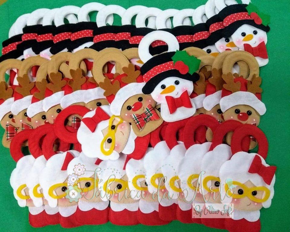 Enfeite de Maçaneta para o Natal