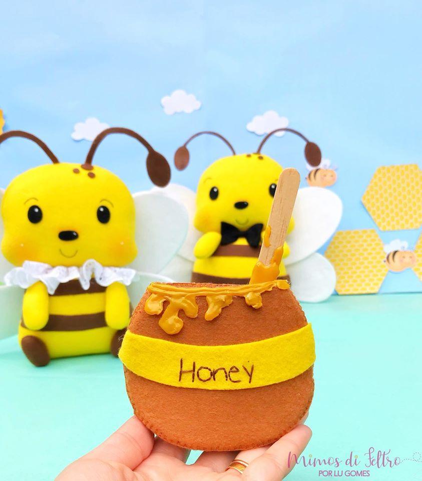 abelhas de feltro
