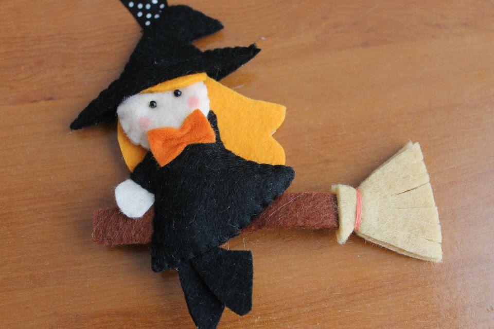 bruxa bruxinha em feltro