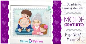 Quadro Família de Feltro | Ideias Criativas | Molde