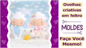 Read more about the article Ovelhas de Feltro   Molde Gratuito   Ideias Criativas