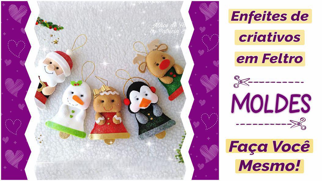 Read more about the article Enfeites de Natal em feltro com moldes criativos – DIY