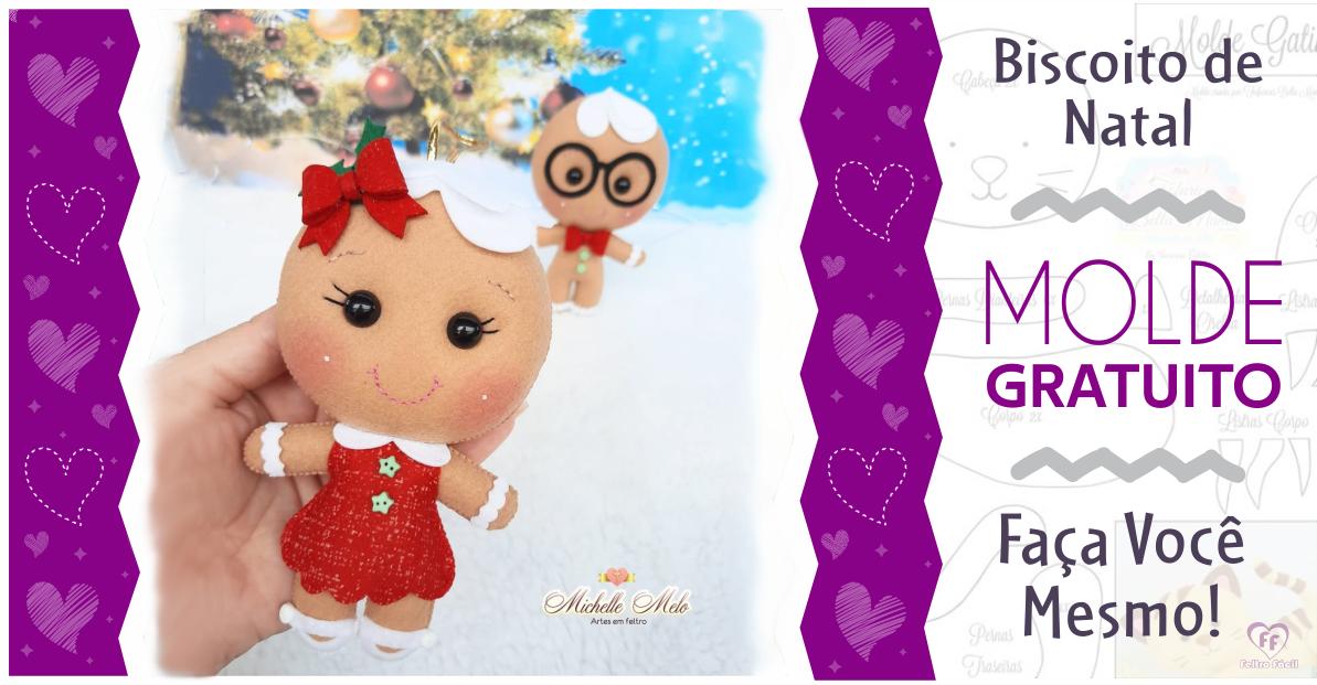 Biscoito de Natal em Feltro | Ideias Criativas de Natal!
