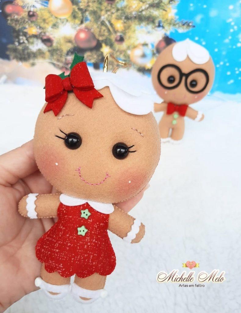 Biscoito de Natal em Feltro