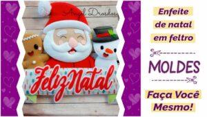 Read more about the article Molde de enfeite de porta de natal [façavocêmesmo]