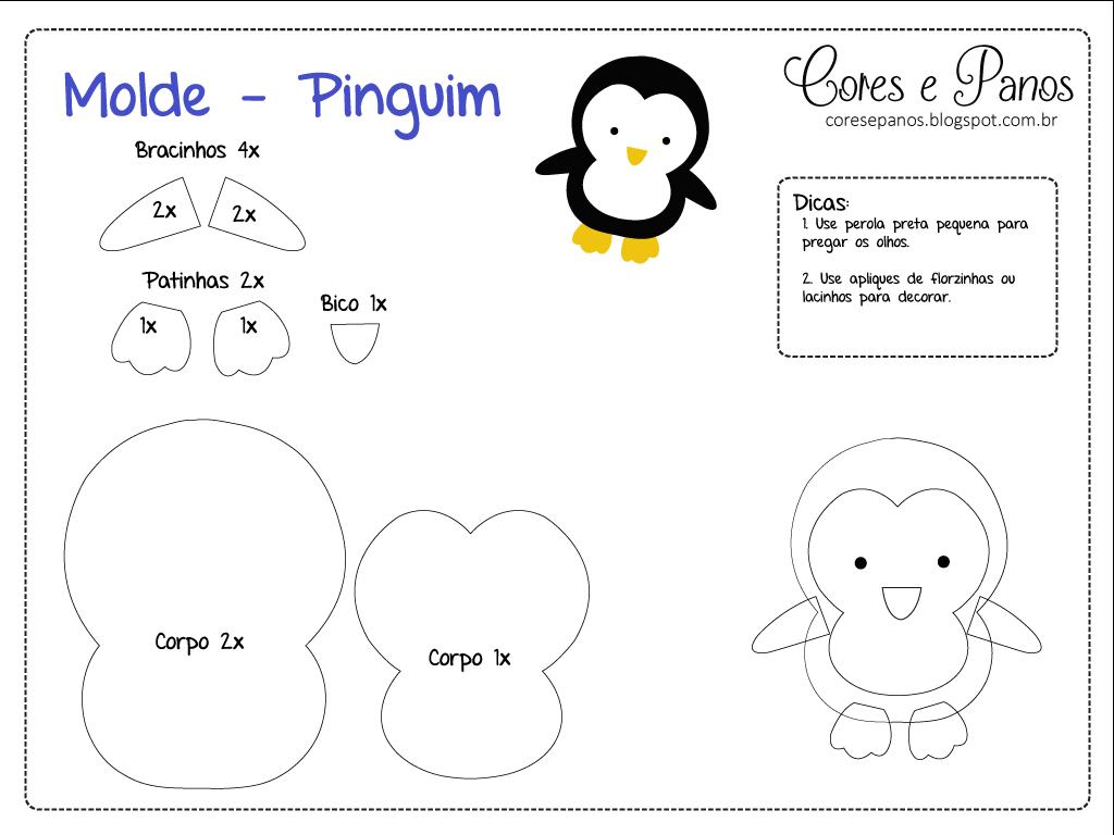 Moldes de Natal Pinguim