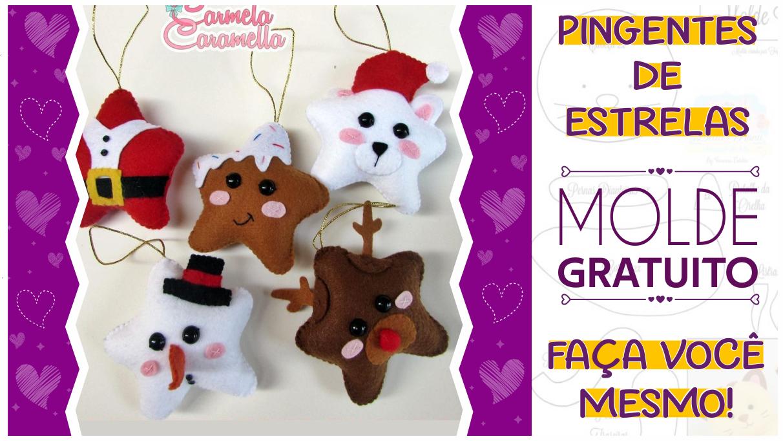 Pingentes Criativos de Natal | Molde Completo Gratuito | Ideias