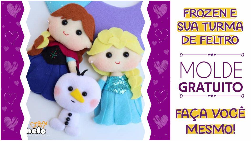 Moldes criativos da Frozen para imprimir: faça você mesmo!