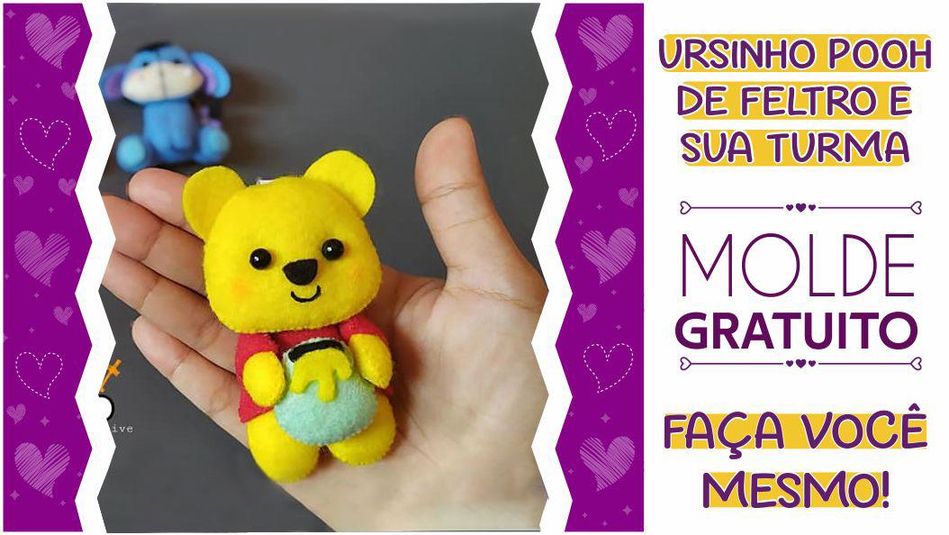 Ursinho Pooh de feltro: moldes criativos para imprimir – faça você mesmo!