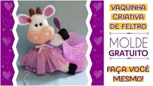 Read more about the article Vaquinha criativa de feltro: molde completo para imprimir!