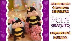 Molde de abelhinha criativa: faça você mesmo | molde pronto para imprimir