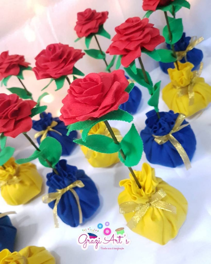Flores de feltro - molde
