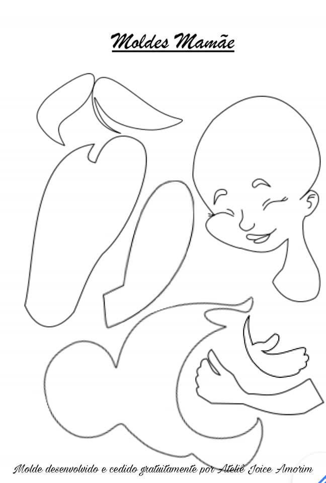 dia das mães moldes