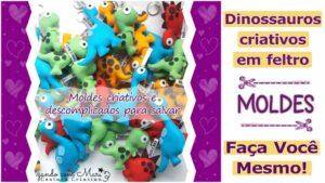 Moldes de dinossauros criativos para imprimir – DIY