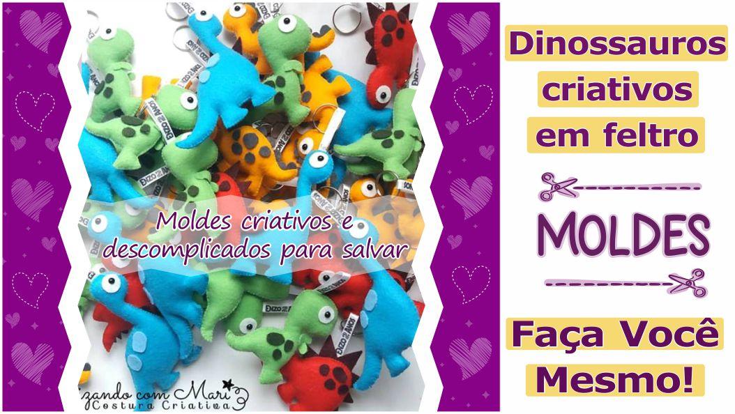 Read more about the article Moldes de dinossauros criativos para imprimir – DIY