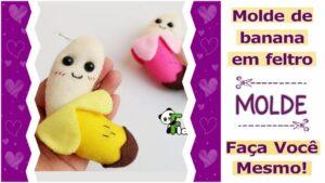 Read more about the article Molde de Banana em feltro para imprimir