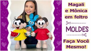 Read more about the article Moldes da Mônica e Magali para imprimir [DIY]