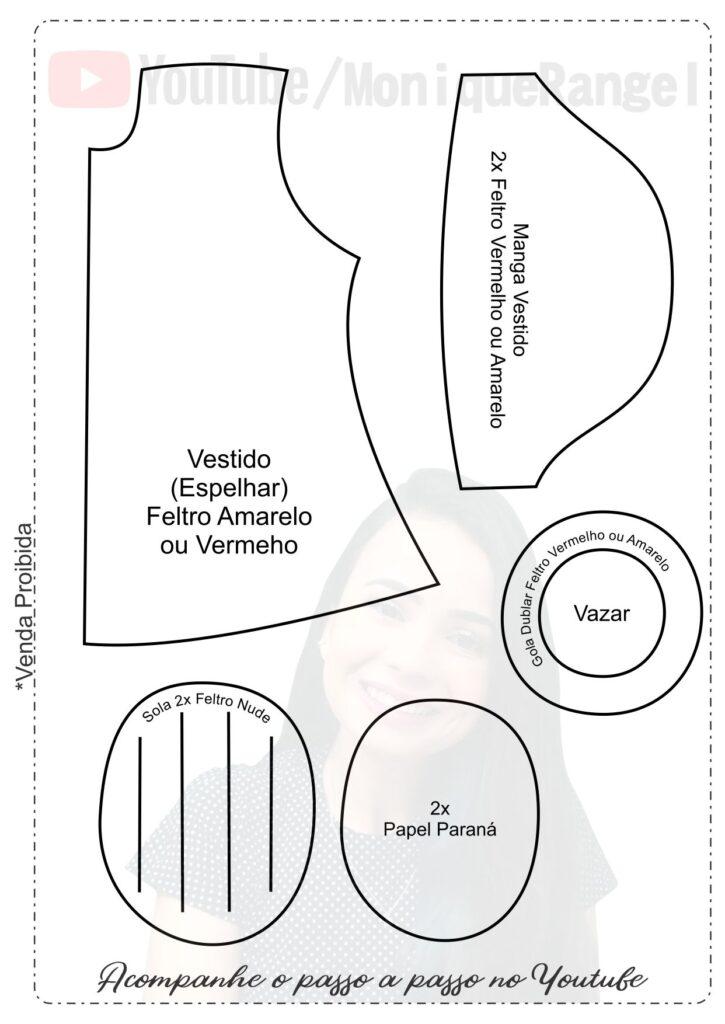 Moldes da Mônica e Magali para imprimir