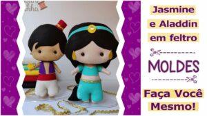 Read more about the article Princesa Jasmine e Aladdin em feltro [DIY]