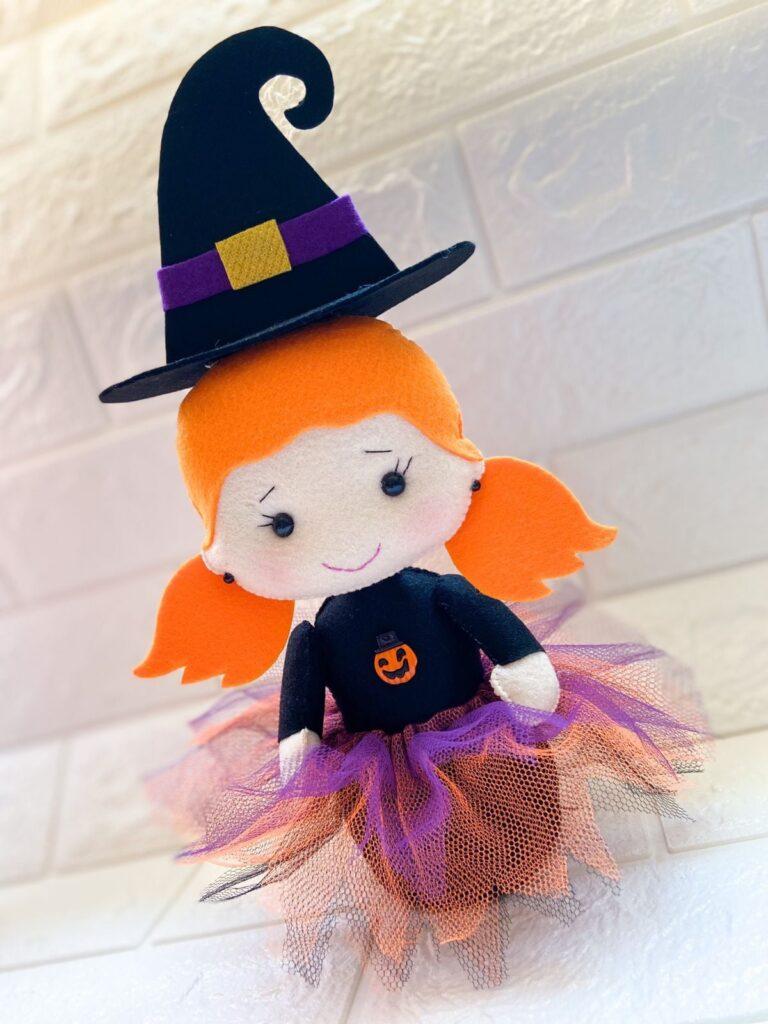bruxa bruxinha de feltro