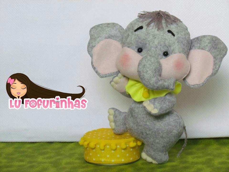 elefante de feltro