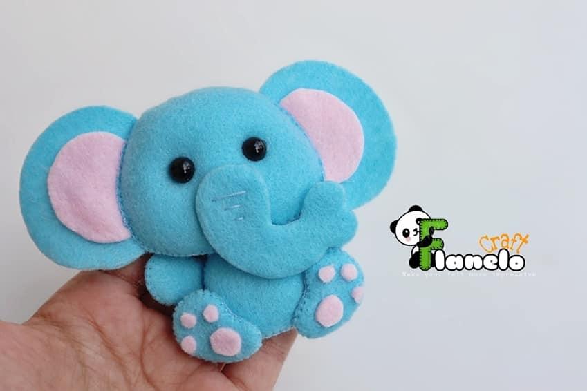 elefante em feltro