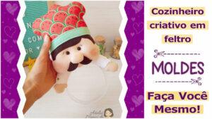 Read more about the article Molde de chef criativo em feltro   faça você mesmo