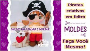 Read more about the article Moldes de bonecos piratas em feltro [DIY]