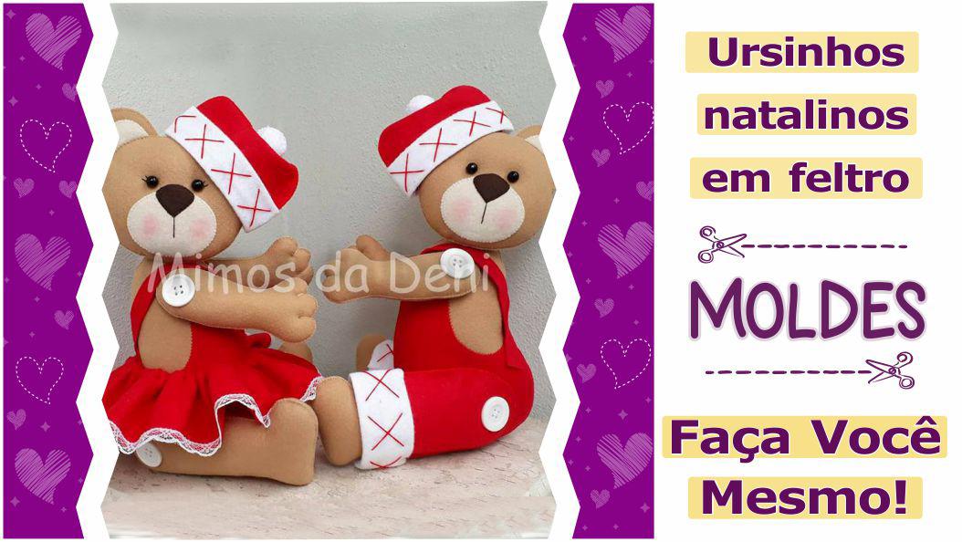 Read more about the article Moldes de urso de natal para imprimir