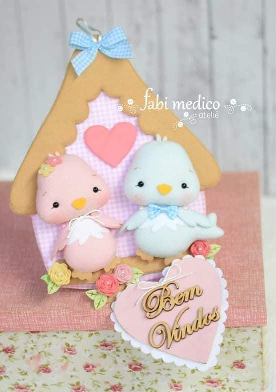 casa de passarinho em feltro