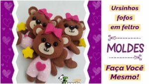 Read more about the article Moldes de ursinhos de feltro [façavocêmesmo]