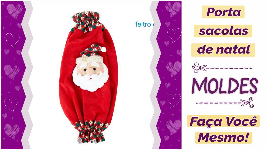 Read more about the article Molde de porta sacolas de natal [DIY]