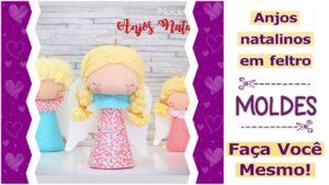 Read more about the article Moldes de anjos de natal em feltro [DIY]